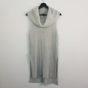 Express Cowl neck Knit Sweater Tunic top Gray